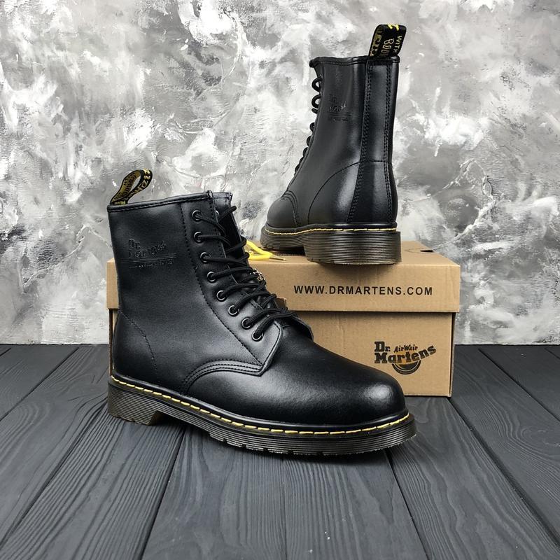Шикарные мужские зимние ботинки dr. martens 1460 black