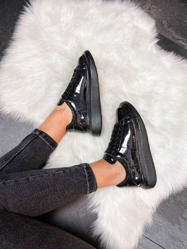 Шикарные женские кроссовки alexander mcqueen galaxy - Фото 4