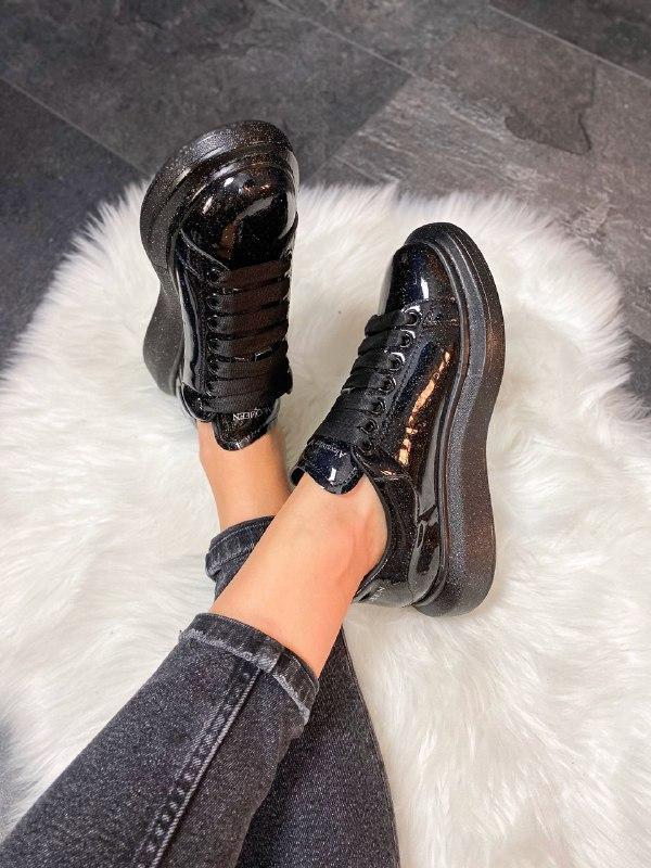 Шикарные женские кроссовки alexander mcqueen galaxy - Фото 5
