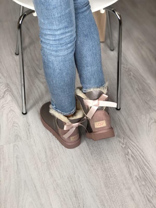 Шикарные женские зимние сапоги ботинки ugg bailey bow mini - Фото 3