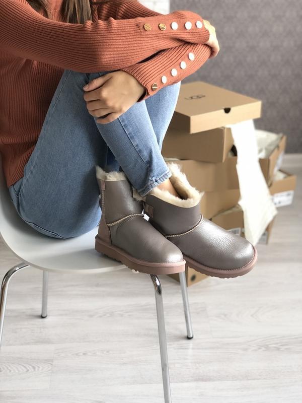 Шикарные женские зимние сапоги ботинки ugg bailey bow mini - Фото 4