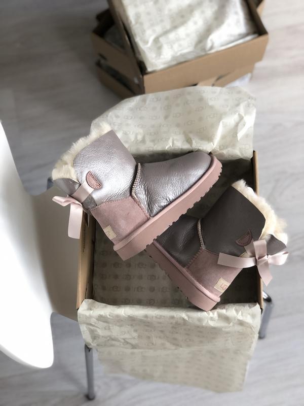 Шикарные женские зимние сапоги ботинки ugg bailey bow mini - Фото 5