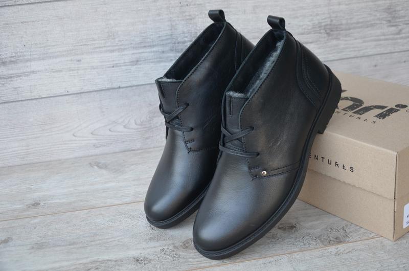 Шикарные мужские зимние ботинки туфли hudromax classic - Фото 2