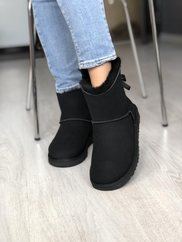 Шикарные женские зимние сапоги ботинки ugg mini bailey bow