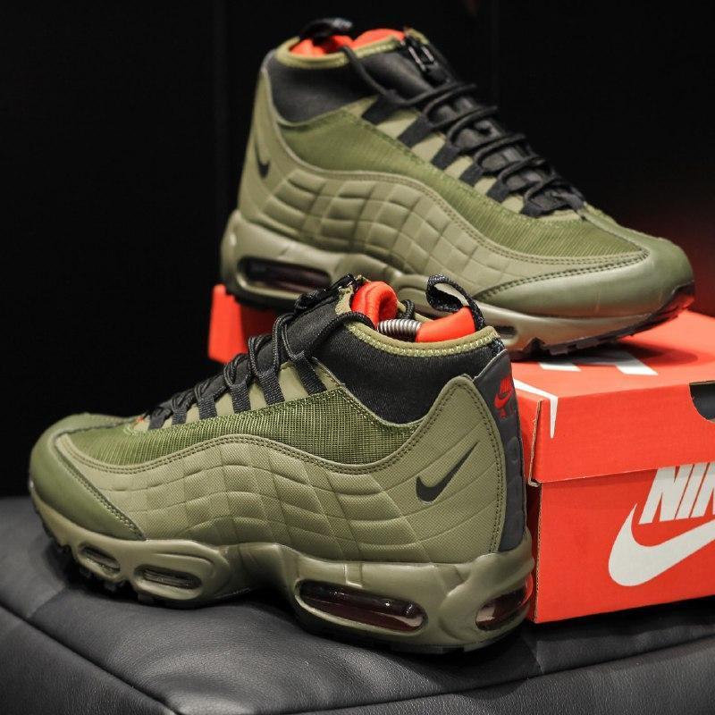 Шикарные мужские кроссовки nike air max 95 sneakerboot  осень ... - Фото 3