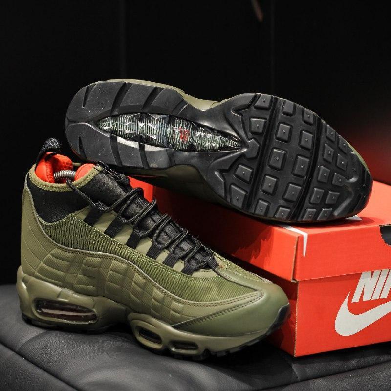 Шикарные мужские кроссовки nike air max 95 sneakerboot  осень ... - Фото 4