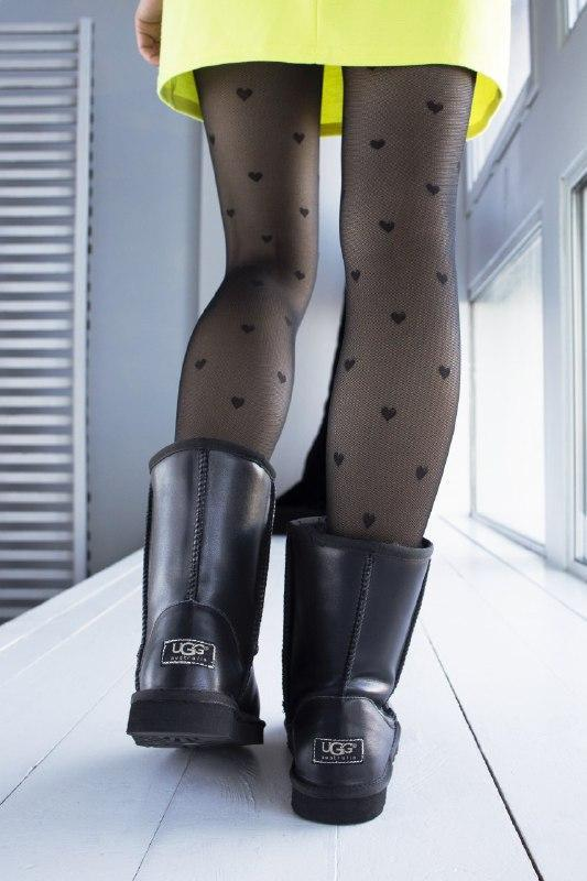 Шикарные женские зимние сапоги угии ugg classic black leather