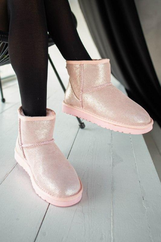Шикарные женские зимние сапоги угии ugg classic mini pink