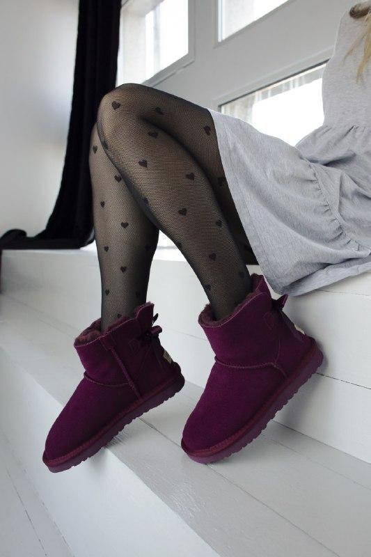 Шикарные женские зимние сапоги угии ugg bailey bow mini purple