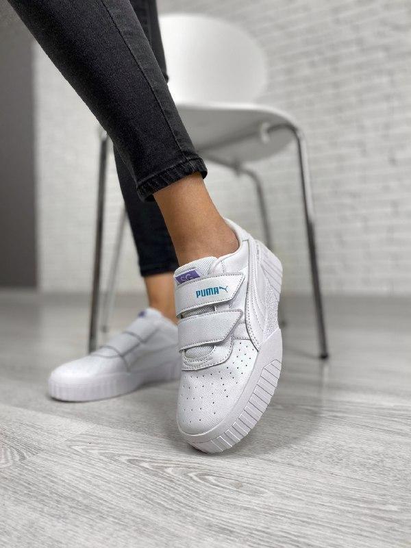 Шикарные женские кроссовки puma cali на липучках