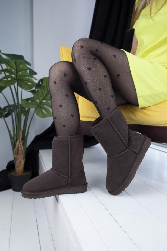 Шикарные женские зимние сапоги угии ugg classic brown