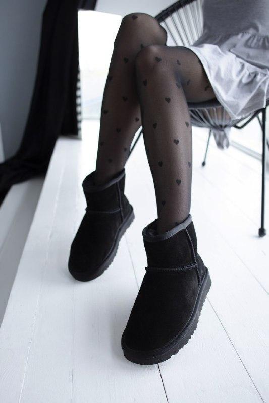 Шикарные женские зимние сапоги угии ugg classic mini  black