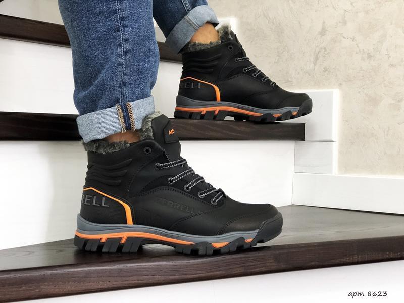 Шикарные мужские зимние ботинки  с мехом merrell