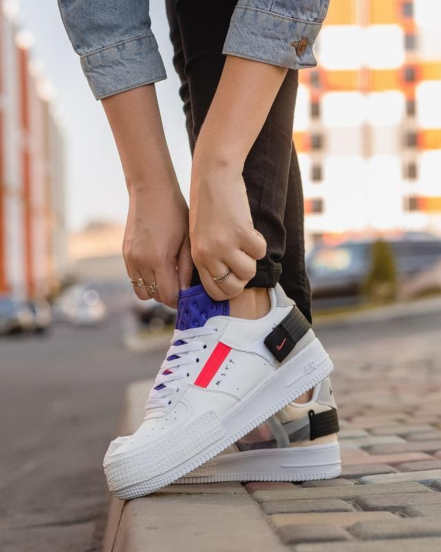 Шикарные женские кроссовки nike air force white 1 low