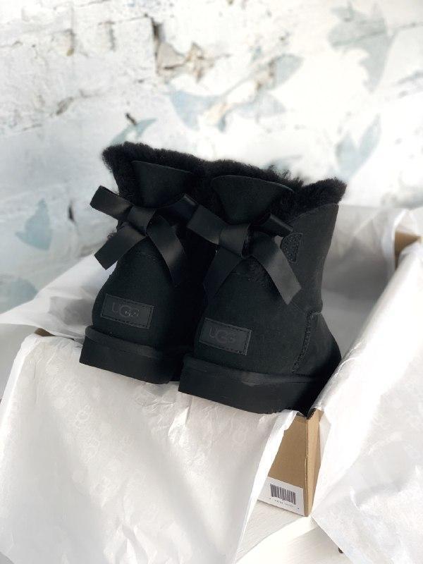 Шикарные женские зимние сапоги угги ugg bailey bow mini black ... - Фото 6