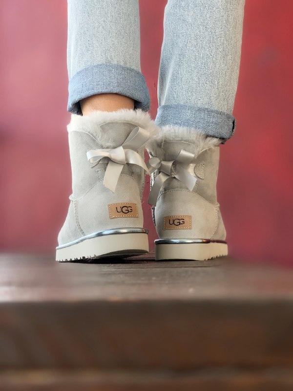Шикарные женские зимние сапоги угги ugg bailey bow mini light ... - Фото 5