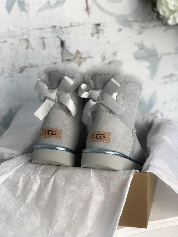 Шикарные женские зимние сапоги угги ugg bailey bow mini light ... - Фото 6