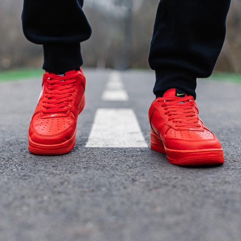 Шикарные женские кроссовки nike air force 1 low red - Фото 3