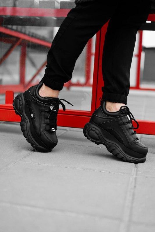 Шикарные женские кроссовки buffalo london black