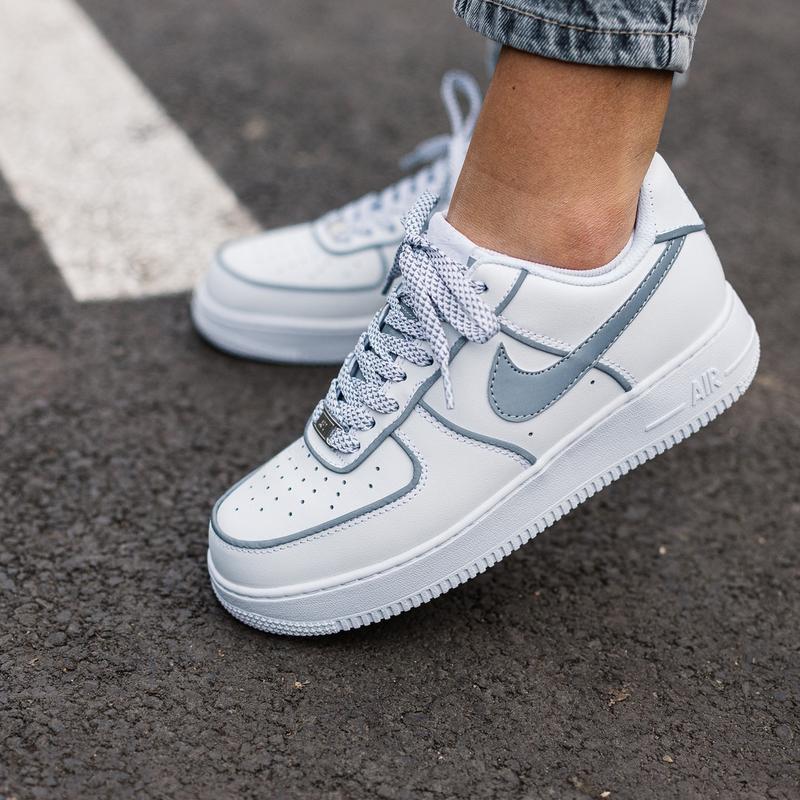Шикарные женские кроссовки nike air force 1 reflective