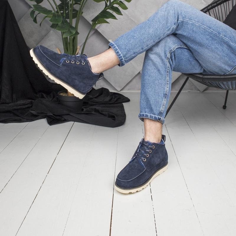 Шикарные мужские зимние ботинки  угги ugg  с натуральным мехом - Фото 3