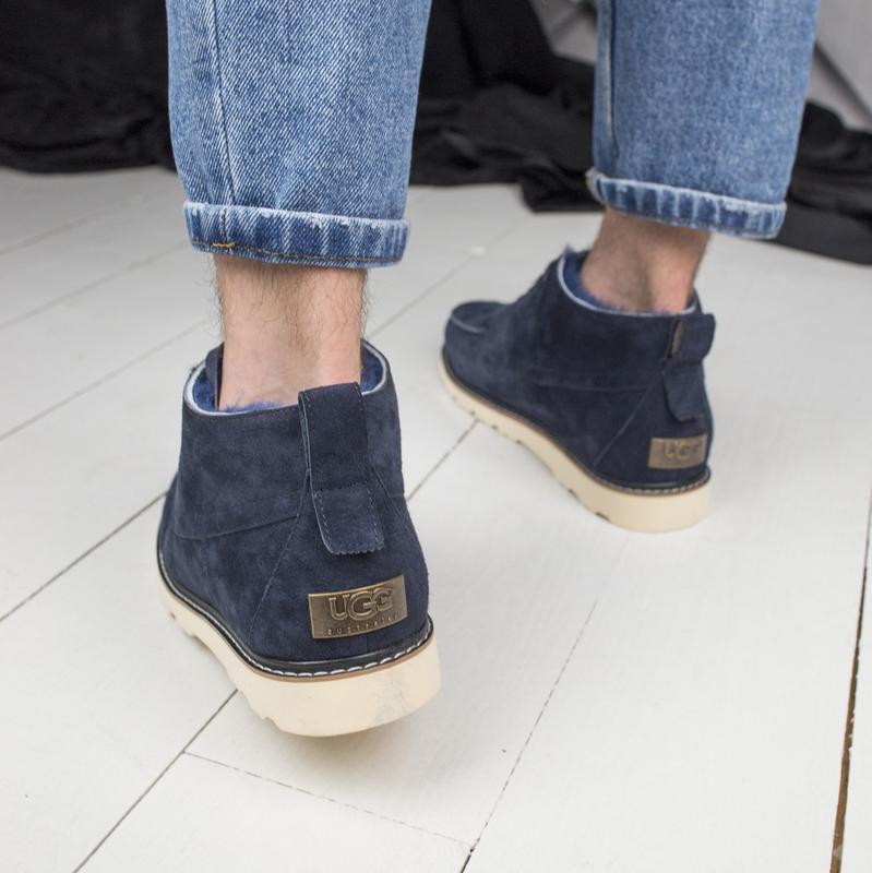 Шикарные мужские зимние ботинки  угги ugg  с натуральным мехом - Фото 5