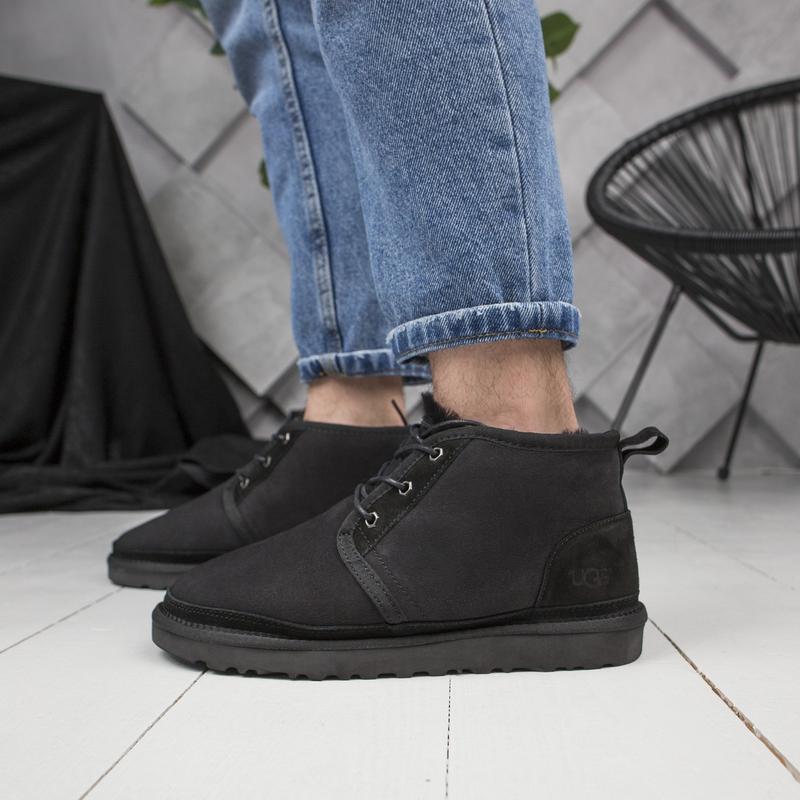 Шикарные мужские зимние  ботинки угги ugg  с натуральным мехом