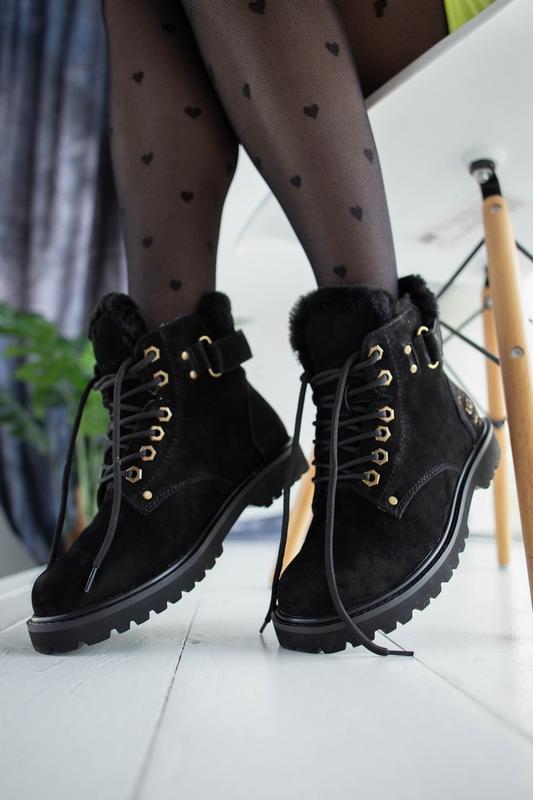 Шикарные  женские зимние ботинки  угги ugg  с натуральным мехом