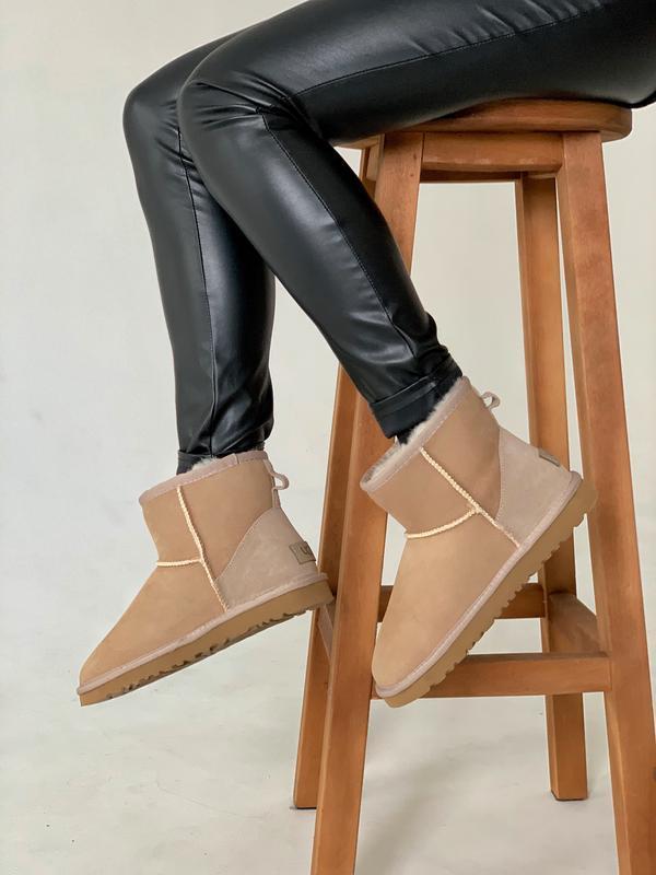 Шикарные женские зимние сапоги угги ugg mini || light brown с ...
