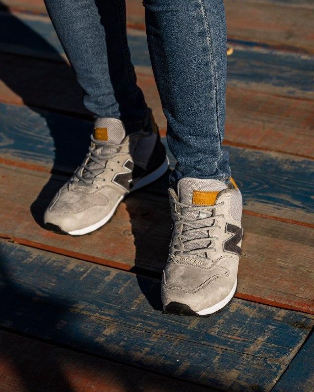 Шикарные мужские зимние кроссовки new balance winter grey  с м... - Фото 2