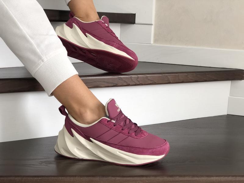 Шикарные женские зимние кроссовки adidas sharks pink/white на ...