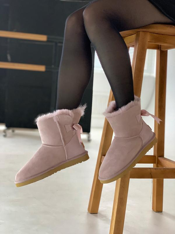 Шикарные женские зимние сапоги угги ugg bailey bow mini pink  ...