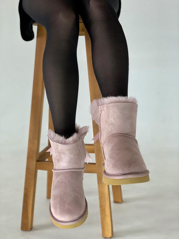 Шикарные женские зимние сапоги угги ugg bailey bow mini pink  ... - Фото 2