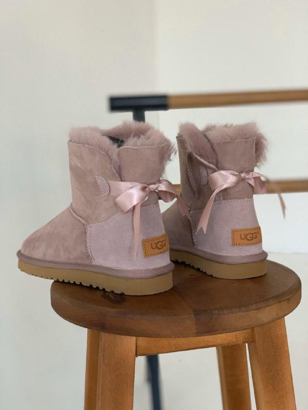 Шикарные женские зимние сапоги угги ugg bailey bow mini pink  ... - Фото 5