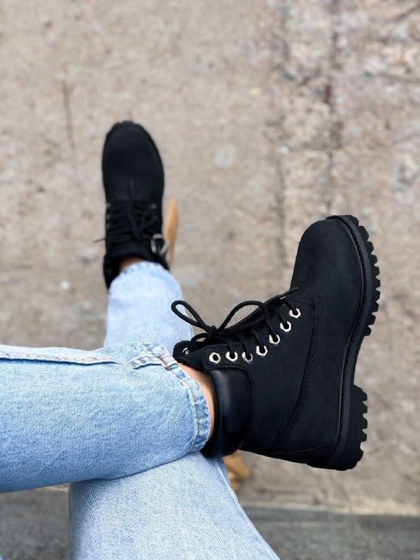 Шикарные женские зимние ботинки на меху timberland premium inc... - Фото 4