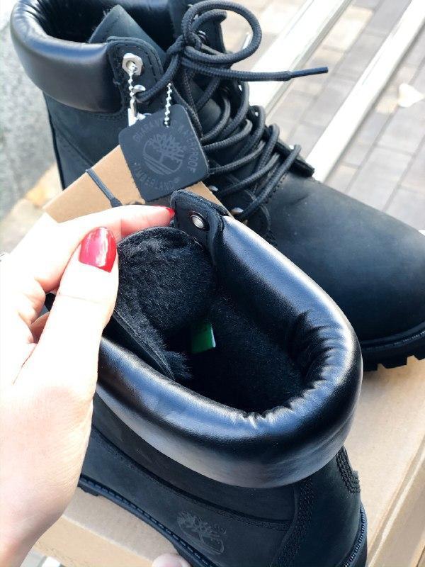 Шикарные женские зимние ботинки на меху timberland premium inc... - Фото 5