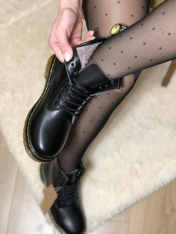 Шикарные женские зимние ботинки с мехом dr. martens 1460 class... - Фото 3