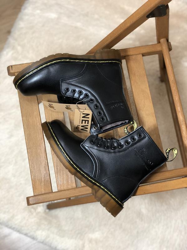 Шикарные женские зимние ботинки с мехом dr. martens 1460 class... - Фото 4