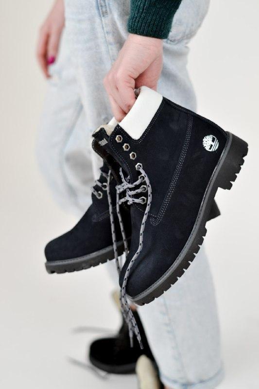 Шикарные женские зимние ботинки timberland blue