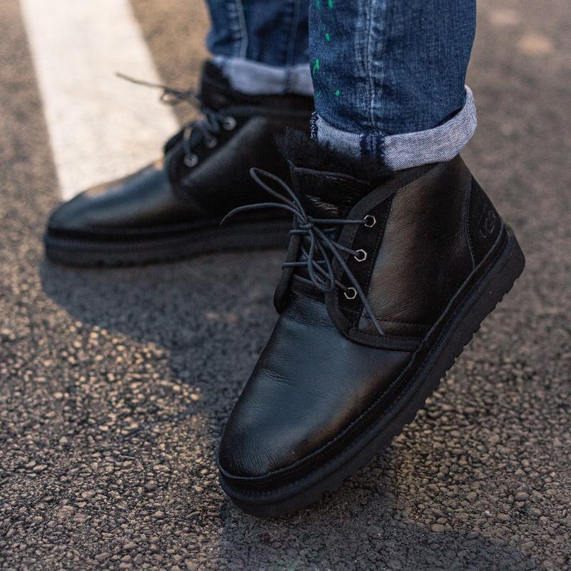 Шикарные мужские зимние угги ugg neumel boot с натуральным мехом