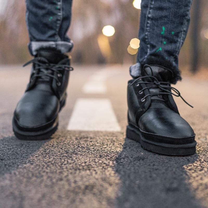 Шикарные мужские зимние угги ugg neumel boot с натуральным мехом - Фото 2