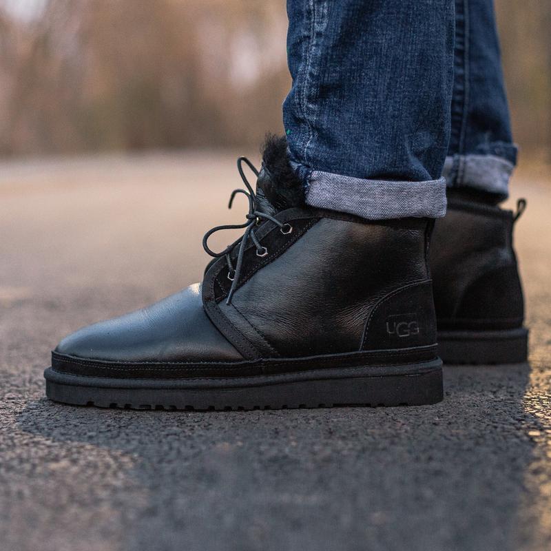 Шикарные мужские зимние угги ugg neumel boot с натуральным мехом - Фото 3