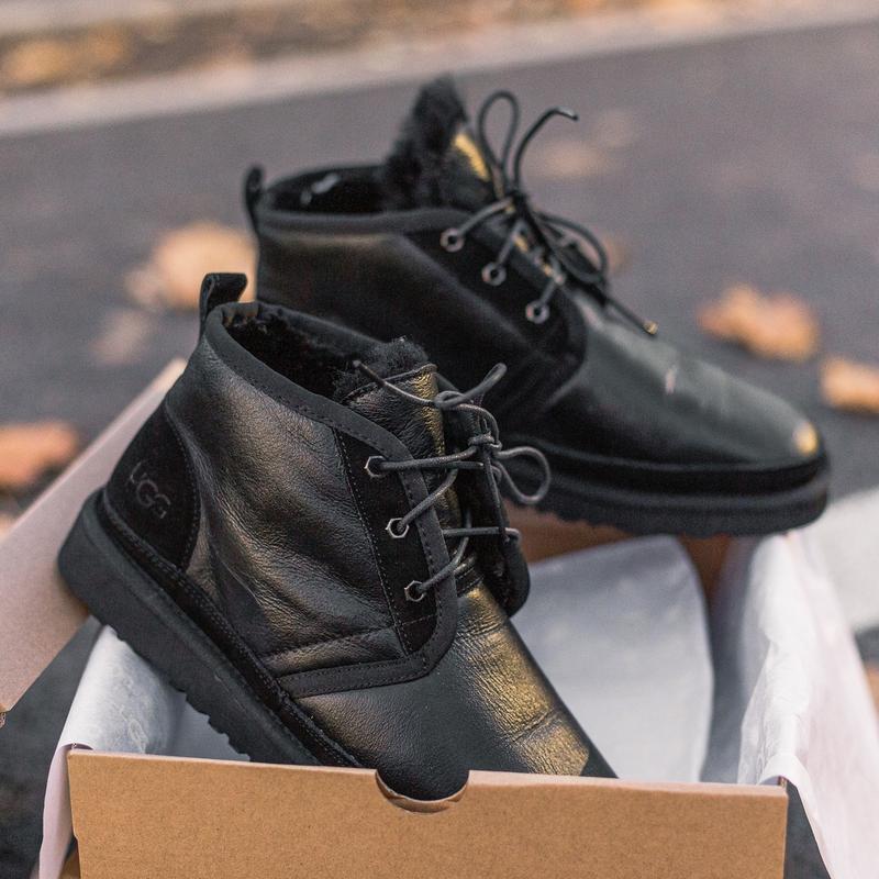 Шикарные мужские зимние угги ugg neumel boot с натуральным мехом - Фото 5