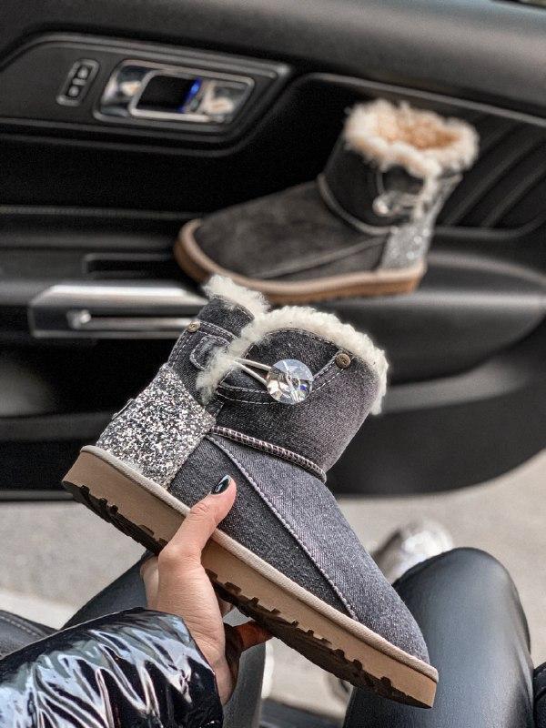 Шикарные женские зимние сапоги угги ugg jeans boots mini