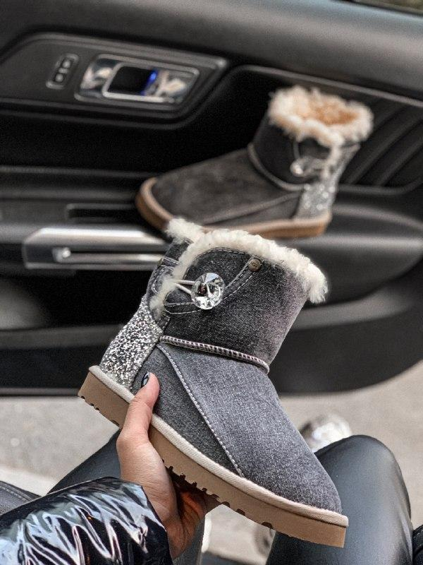 Шикарные женские зимние сапоги угги ugg jeans boots mini - Фото 2