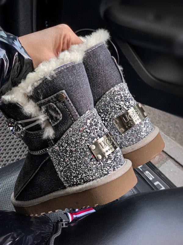 Шикарные женские зимние сапоги угги ugg jeans boots mini - Фото 3