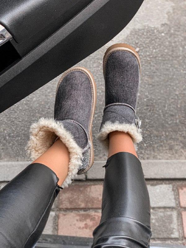 Шикарные женские зимние сапоги угги ugg jeans boots mini - Фото 4