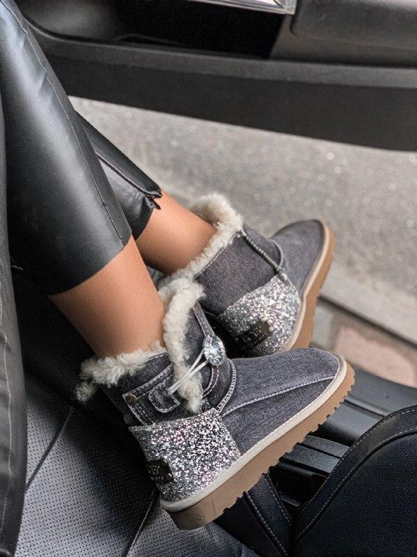 Шикарные женские зимние сапоги угги ugg jeans boots mini - Фото 5