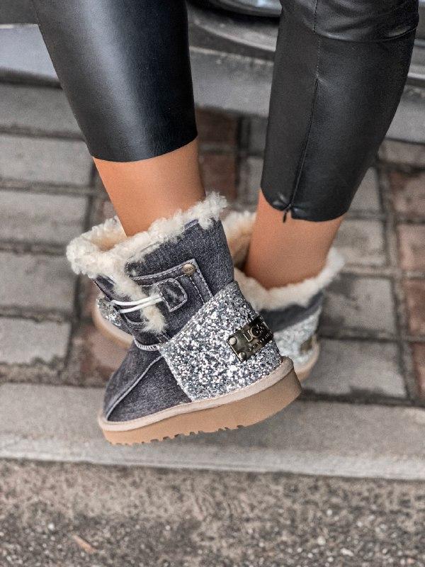 Шикарные женские зимние сапоги угги ugg jeans boots mini - Фото 6