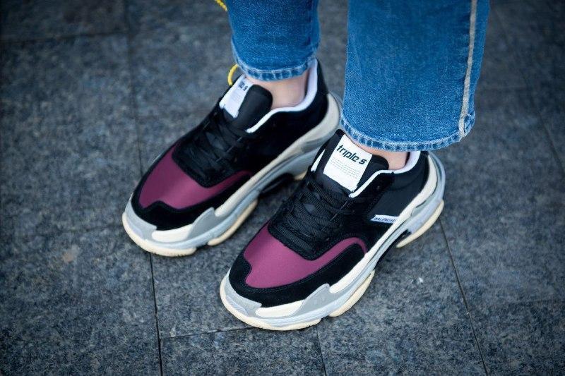 Шикарные женские кроссовки balenciaga triple s